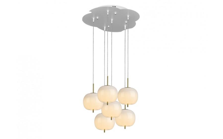 Lampa wisząca Jabłko MD5069-6GL złota
