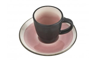 Filiżanka ze spodkiem 75ml Origin pink