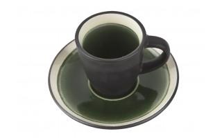 Filiżanka ze spodkiem 75ml Origin green