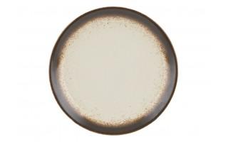 Talerz deserowy 19,5cm Bolesławiec Krem z brązem