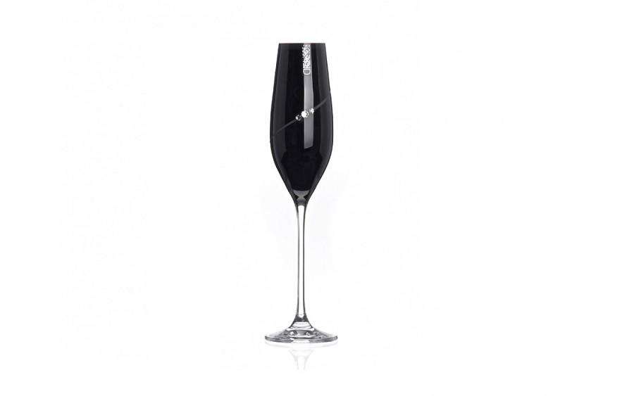 2x Kieliszki do szampana Black