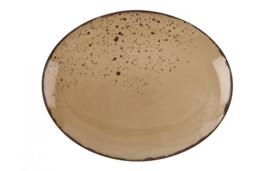 Talerz owalny płytki 29x23cm Pepper Beige