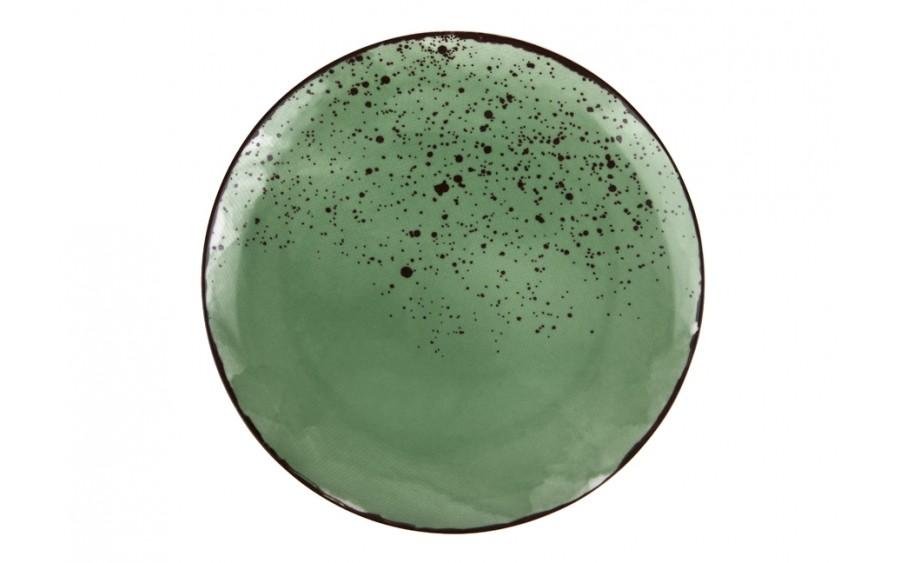 Talerz płytki 28cm Pepper Green obiadowy