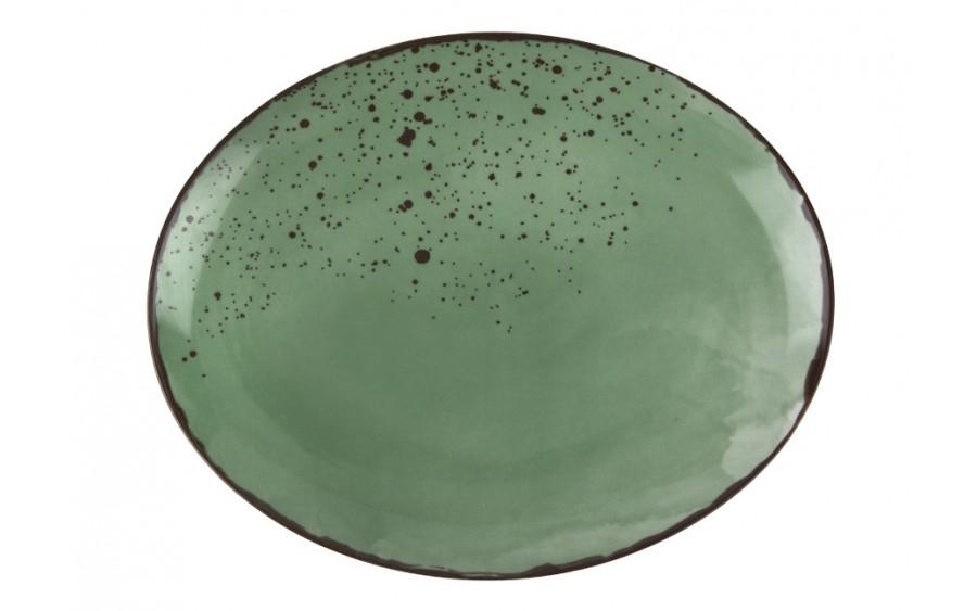 Talerz owalny płytki 29x23cm Pepper Green