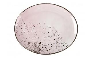 Talerz owalny płytki 22x18cm Pepper Pink
