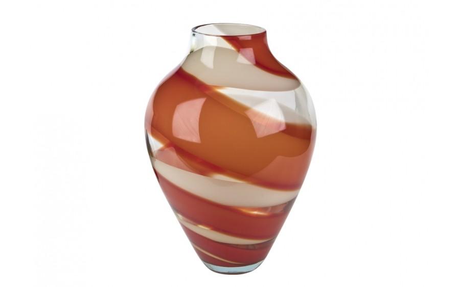 Wazon szklany czerwony Józefina