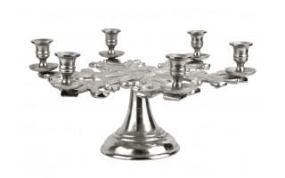 Świecznik aluminiowy na 6 świec