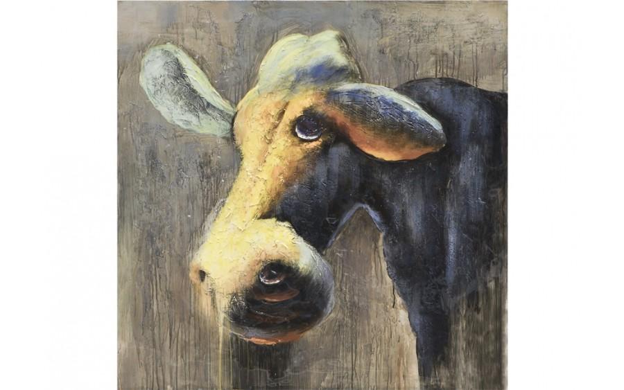 Obraz na płótnie 100x100cm Krowa półcień