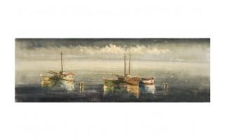 Obraz na płótnie 50x150cm Łódki