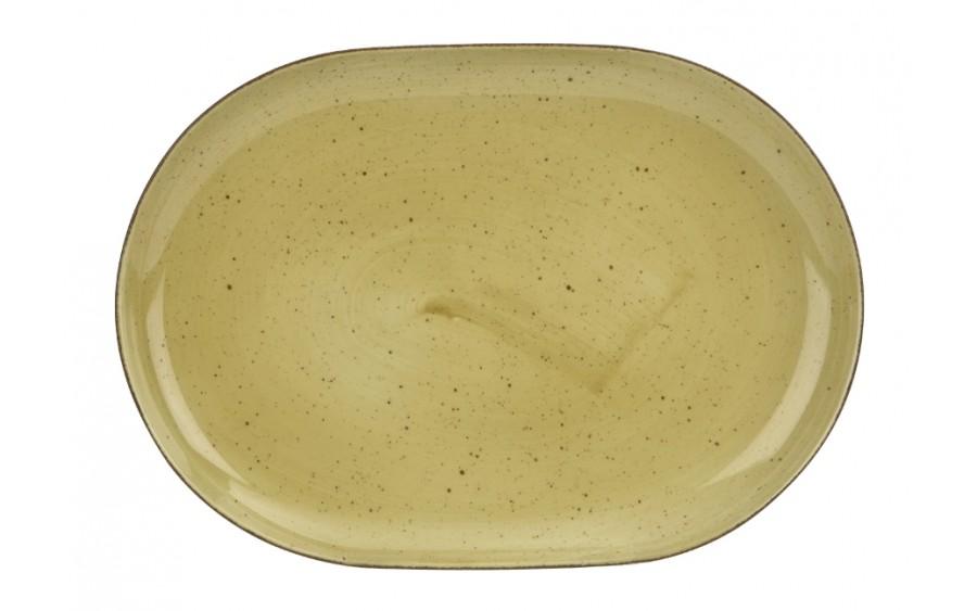 Półmisek owalny 33cm Boss Żółty
