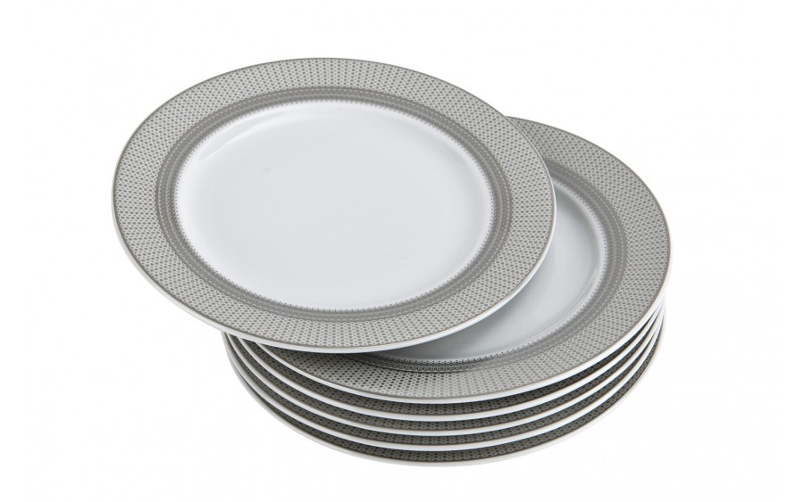 Komplet 6 talerzy deserowych 17cm Amaro Silver