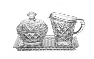 Kryształowy komplet na tacy Bohemia