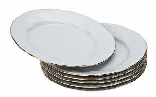 Komplet 6 talerzy deserowych 21cm Luis Gold