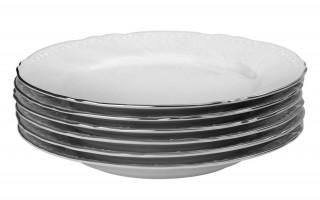 Komplet 6 talerzy deserowych 21cm Luis Platina