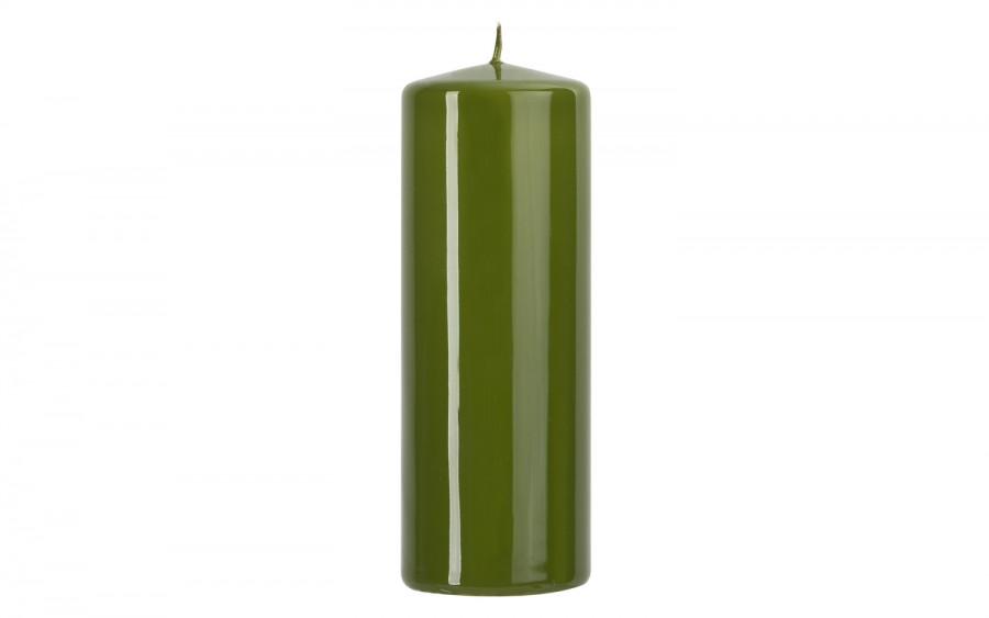 Świeca pieńkowa zielona oliwka śr. 7cm