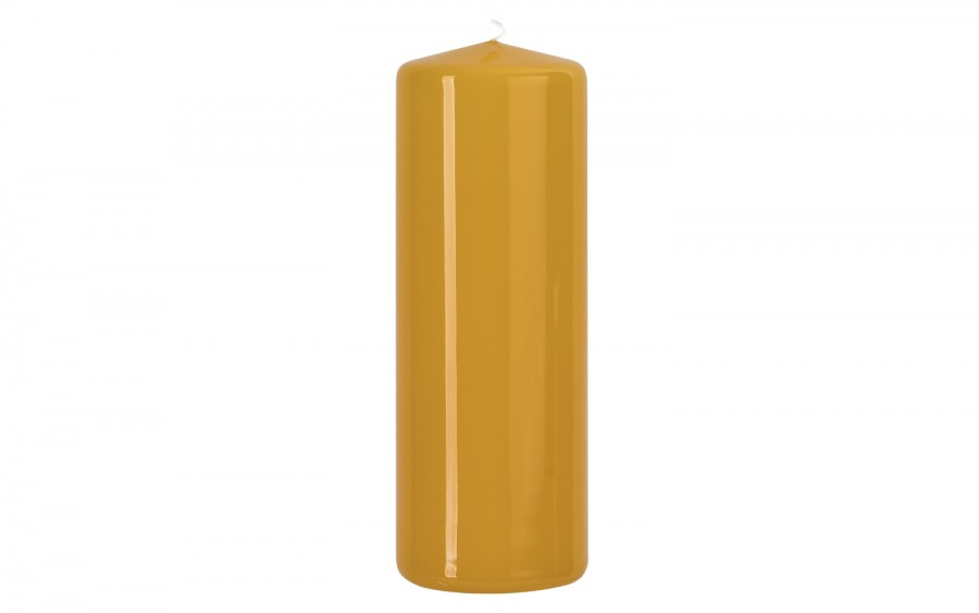 Świeca pieńkowa żółta śr. 7cm