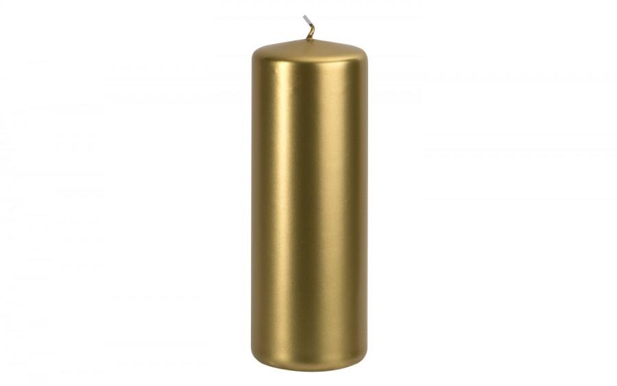 Świeca pieńkowa złoty metalik śr. 7cm