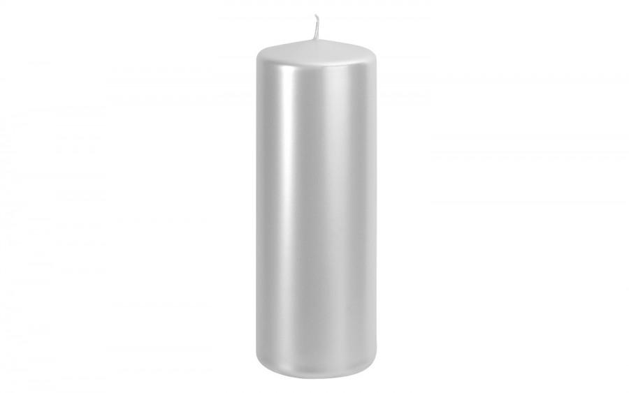 Świeca pieńkowa perłowy metalik śr. 7cm