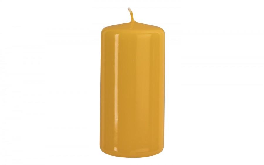 Świeca klubowa żółta śr. 5,8cm