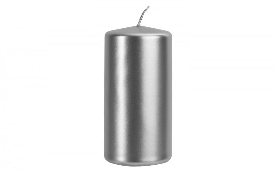 Świeca klubowa srebrny metalik śr. 5,8cm