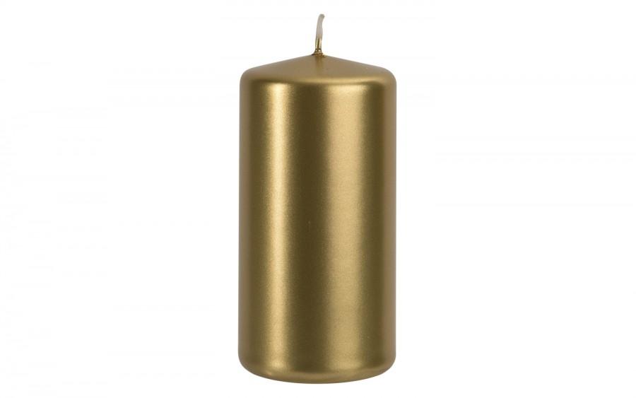 Świeca klubowa złoty metalik śr. 5,8cm