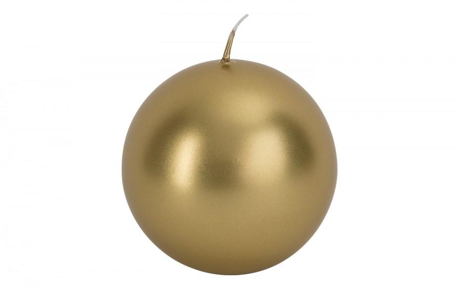 Świeca kula złoty metalik śr. 10cm