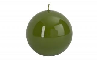 Świeca kula zielona śr. 10cm