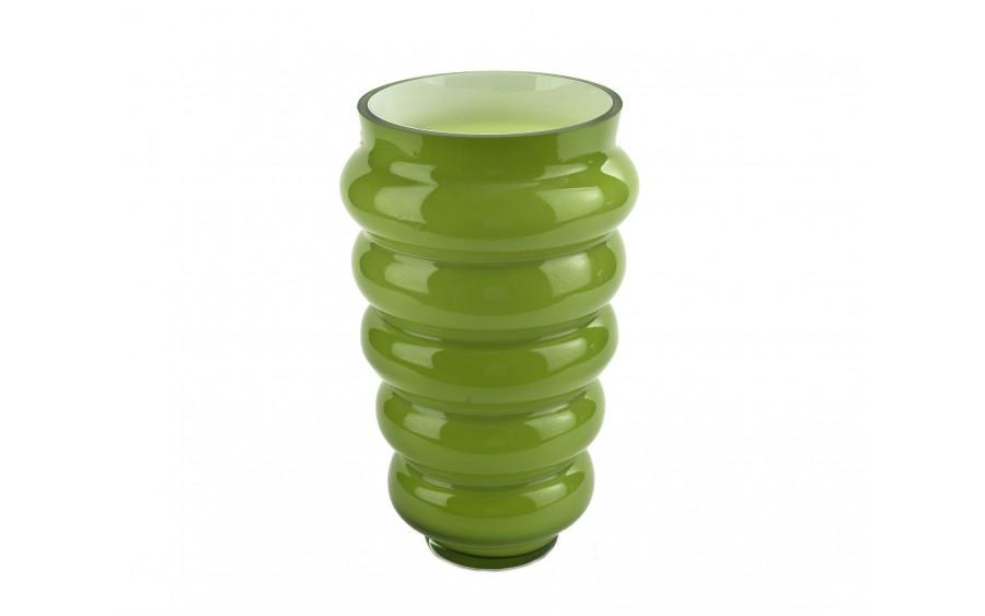Wazon mleczny zielony 30cm