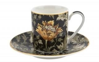 Kpl. 2 filiżanek 80ml ze spodkami Chrysanthemum