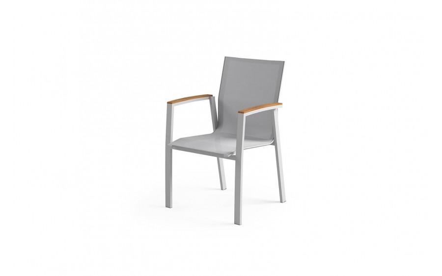 Krzesło z podłokietnikiem Leon Teak Ant. Light