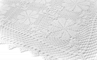 Serweta na stół ażurowa 85cm biała