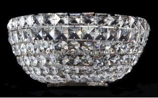 Lampa kinkiet kryształowy Basfor DIA100-WL-02-N