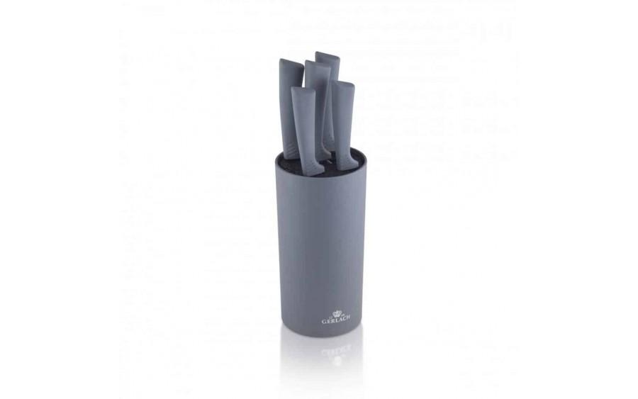 Komplet noży w bloku 5 sztuk Smart Grey