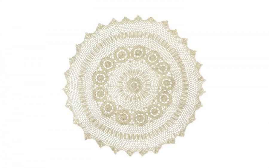 Obrus okrągły ecru FI 110 cm