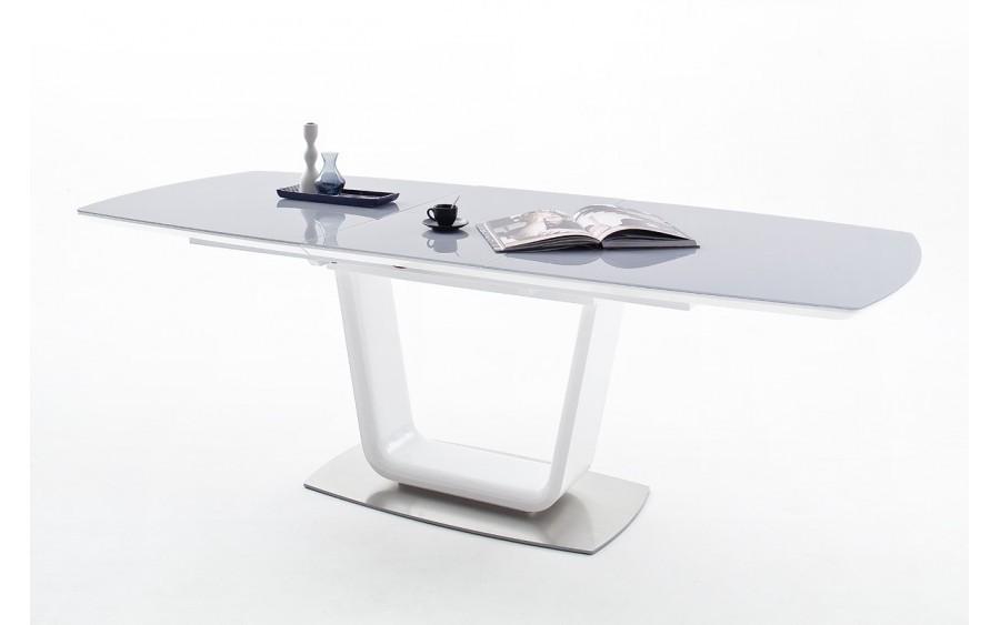Stół Xander z szybą białą