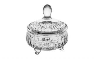Bombonierka kryształowa 12 cm. II