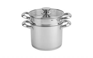 Podwójny garnek do gotowania makaronu 4,6 l. (3 części)