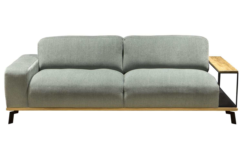 Sofa Manta 3 rama drew. + stolik metal z drew.