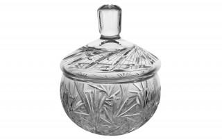 Bombonierka kryształowa 16cm Zawiercie
