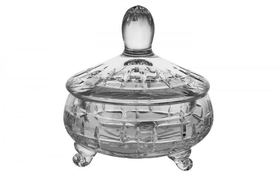 Bombonierka kryształowa 11,4cm Zawiercie