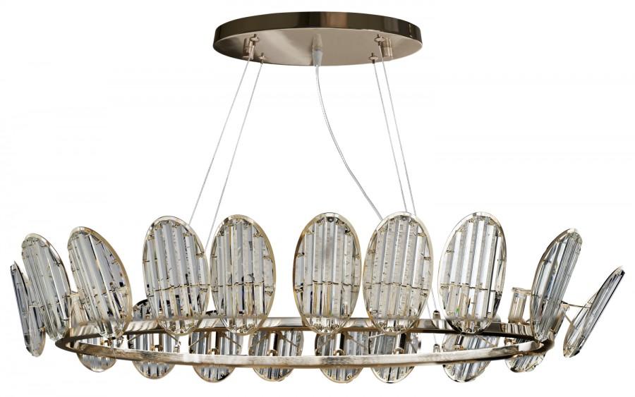 Lampa wisząca kryształowa Butterfly 60267/18 oval.