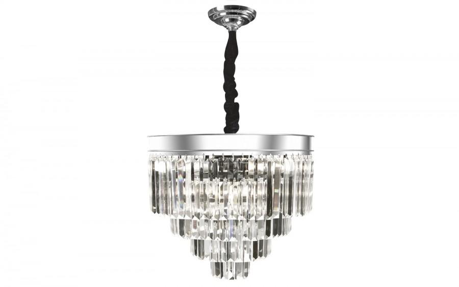 Lampa wisząca kryształowa Monk Chrome 33291/11