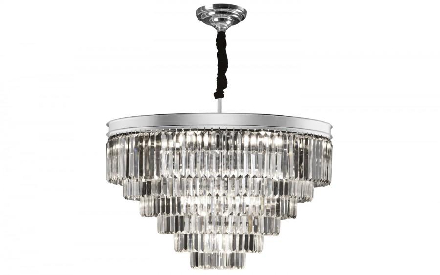 Lampa wisząca kryształowa Monk Chrome 33291/37