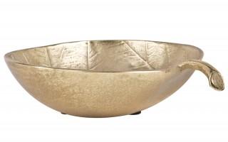 Patera złoty liść Gold 18 cm szerokości