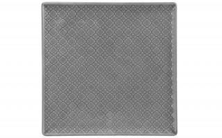 Talerz płytki kwadratowy 25,5cm Marrakesz szary