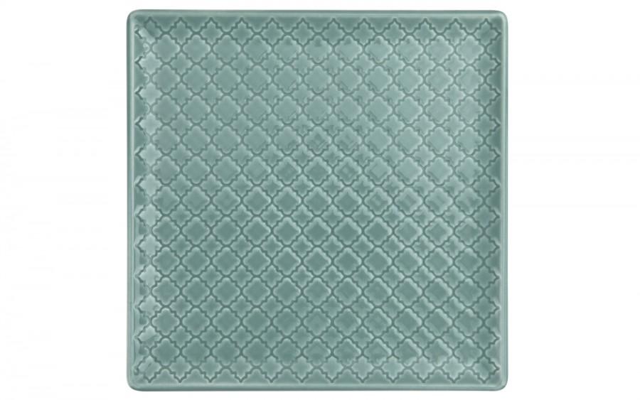 Talerz płytki kwadratowy 20,5cm Marrakesz morski