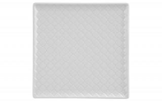 Talerz płytki kwadratowy 20,5cm Marrakesz biały