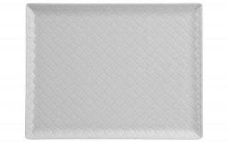 Talerz płytki prostokątny 31x24cm Marrakesz biały