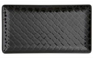 Talerz płytki prostokątny 24x13cm Marrakesz czarny