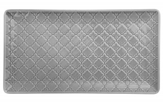 Talerz płytki prostokątny 24x13cm Marrakesz szary